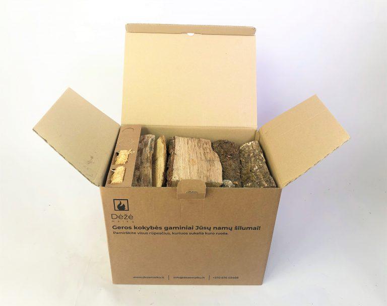 Ąžuolinių malkų L dydžio dėžė