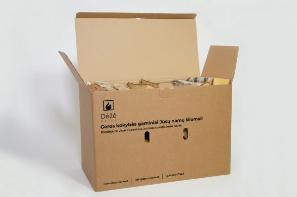 Beržinių malkų XL dydžio dėžė su įdegėjais - 2