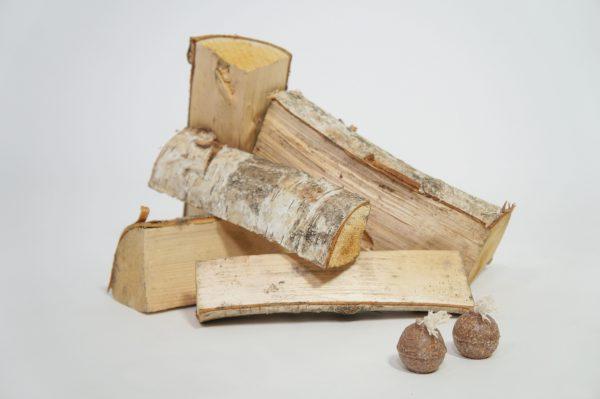 Beržinių malkų XL dydžio dėžė su įdegėjais - 4