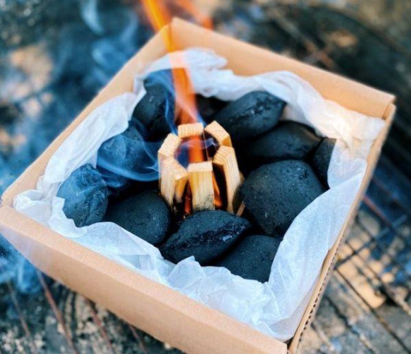 Medžio anglių briketų rinkinys su įdegėjais - 4