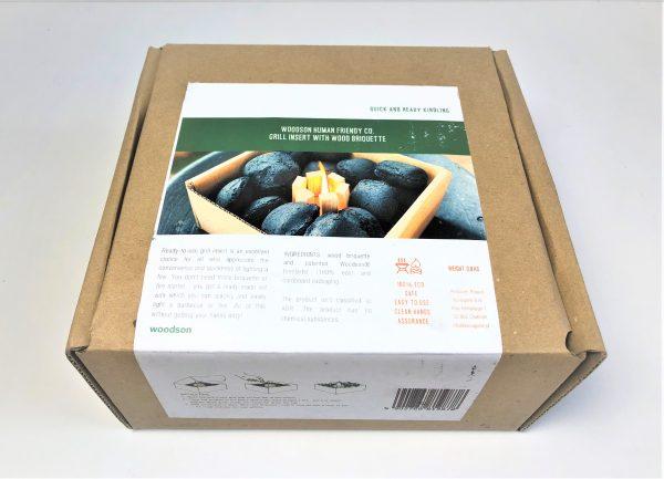 Medžio anglių briketų rinkinys su įdegėjais - 3